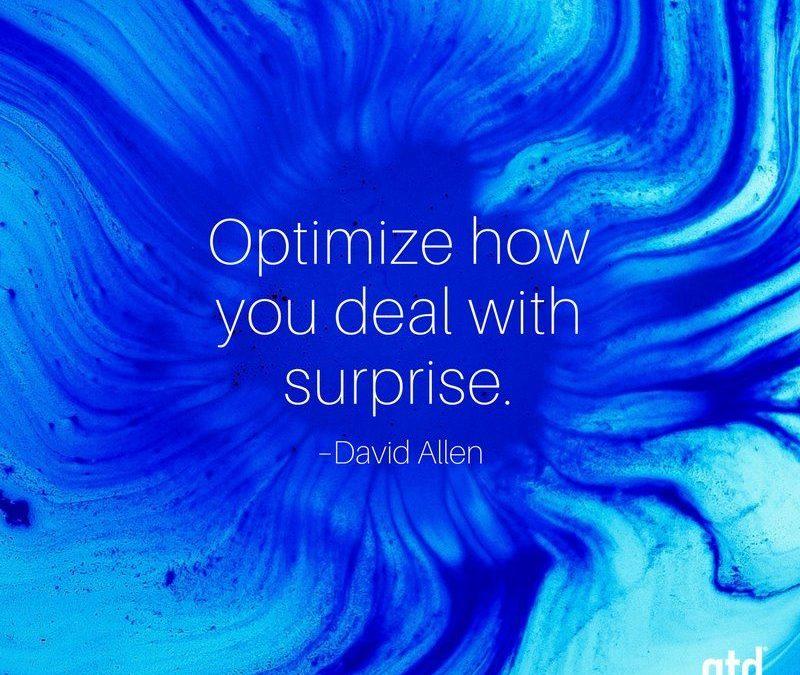 Ottimizza il tuo modo di gestire le sorprese con il corso GTD® level 3